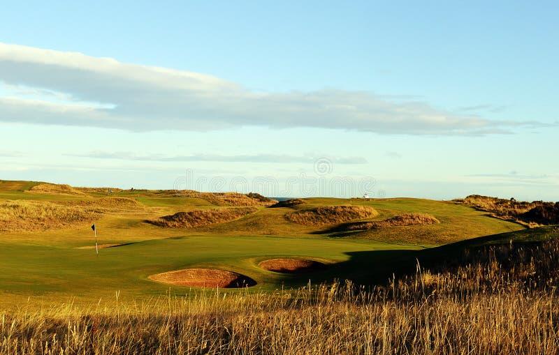 Clube de golfe real de Aberdeen, Balgownie, Aberdeen, Escócia imagem de stock