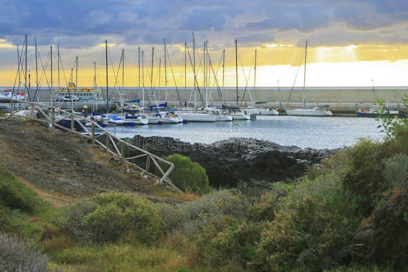 Clube de iate marinho fotografia de stock