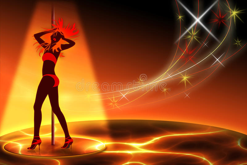 Clube de noite ilustração royalty free
