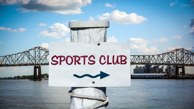 Clube desportivo do sinal de rua ilustração stock