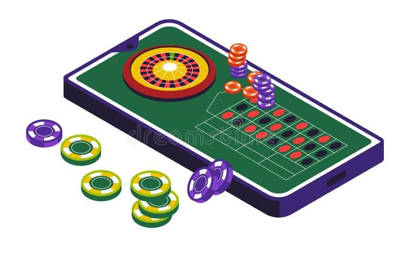 Clube do casino, roda de roleta e jogo, ícone isolado ilustração do vetor
