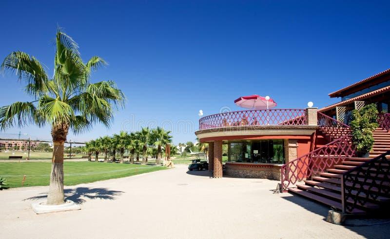 Clube do golfe de Playa Serena no del Almeria da costela fotos de stock