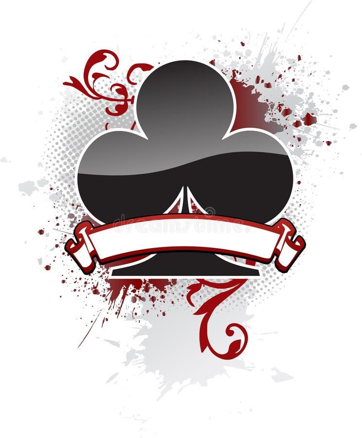 Clube do póquer ilustração royalty free