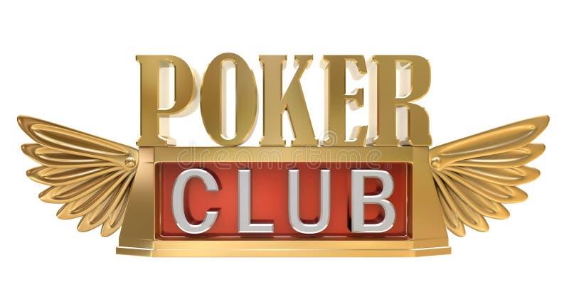 Clube do póquer - emblema do ouro ilustração royalty free