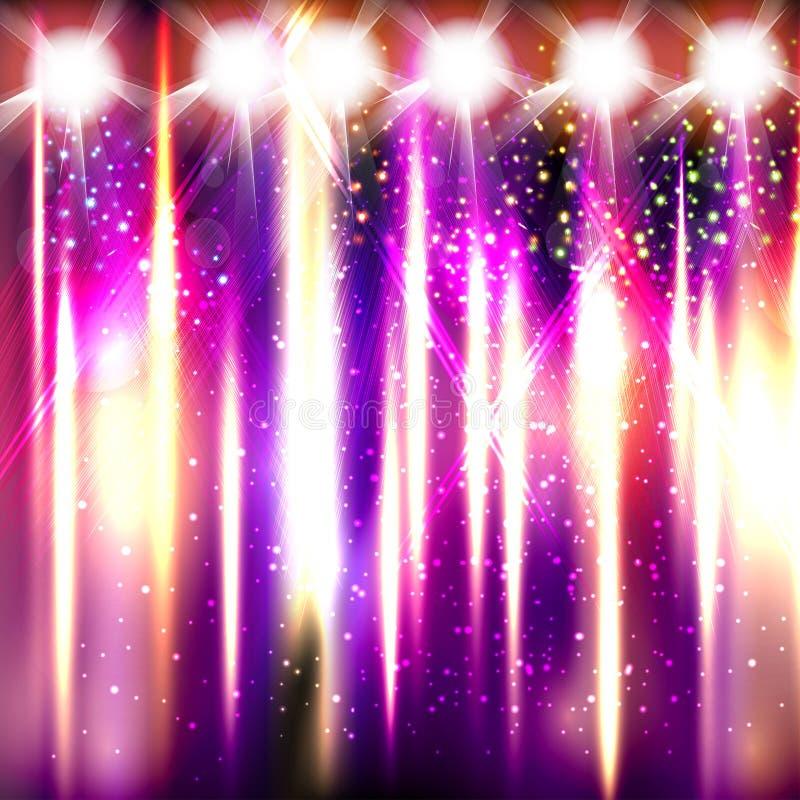Clube dos fogos-de-artifício da fase clara ilustração royalty free