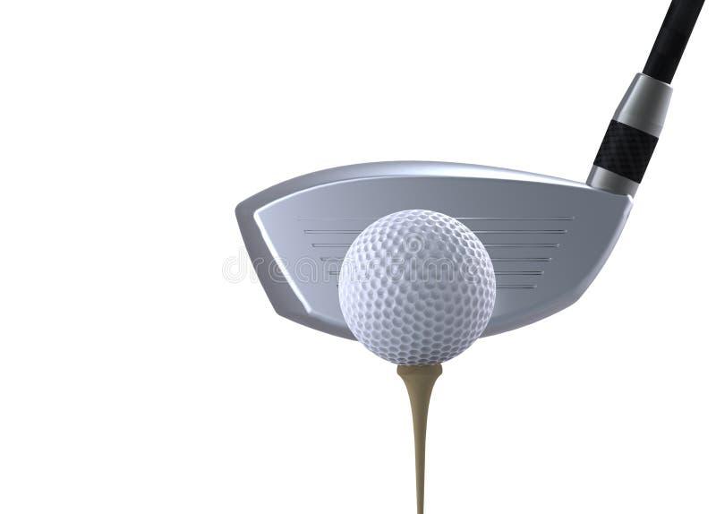 Clube e esfera de golfe ilustração royalty free