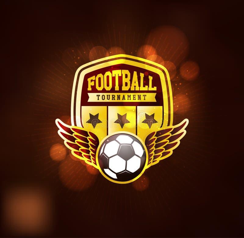 Clube Logo Design Template do futebol ilustração royalty free
