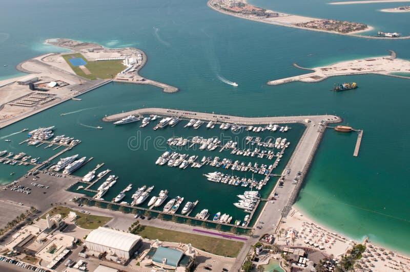 Clube marinho internacional de Dubai imagens de stock