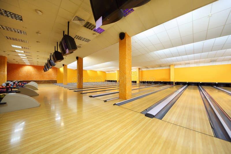 Clube vazio do bowling fotos de stock royalty free