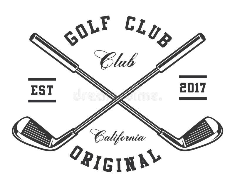 Clubes de golfe ilustração do vetor