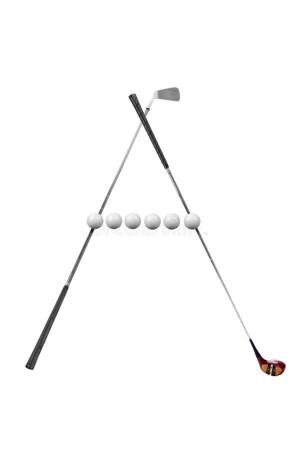 Clubes de golfe cruzados imagem de stock royalty free