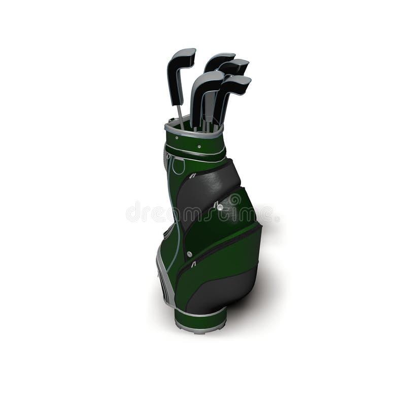 Clubes de golfe isolados ilustração royalty free