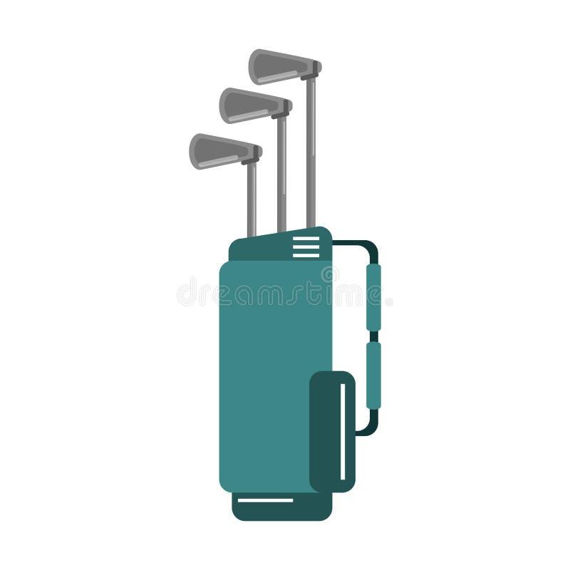 Clubes de golfe no saco ilustração do vetor