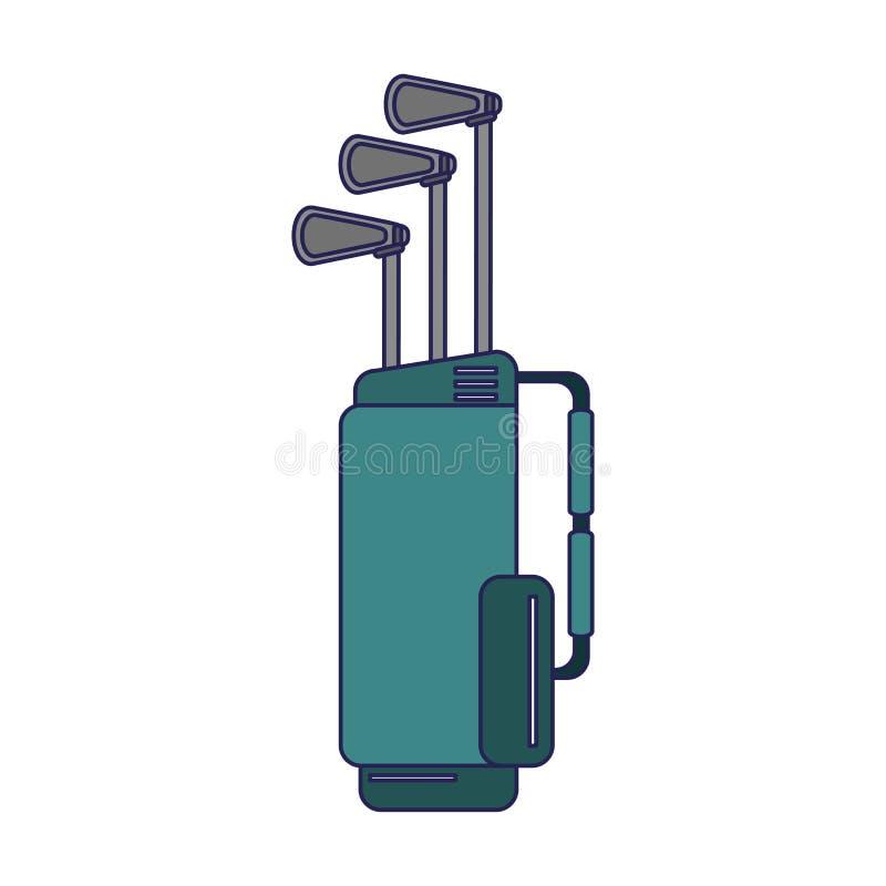 Clubes de golfe no saco ilustração royalty free