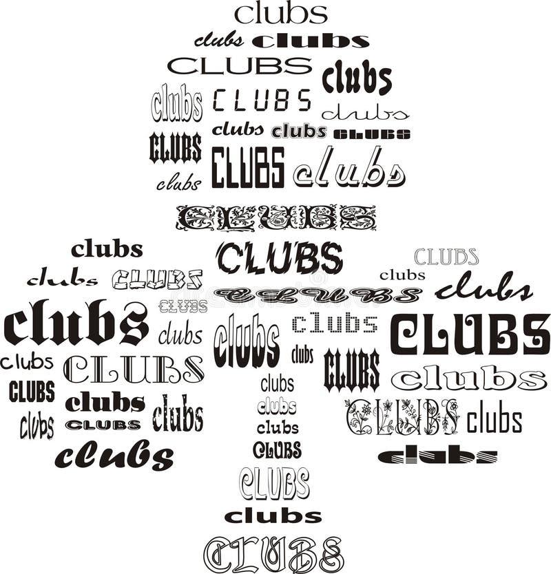 Clubes dos clubes ilustração royalty free