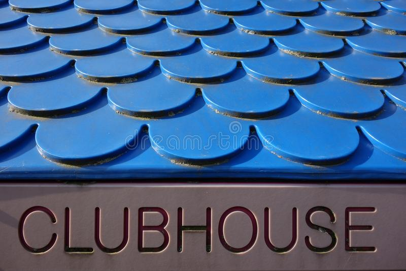 clubhouse royaltyfri bild