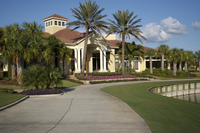 Clubhouse in Florida royalty free stock images