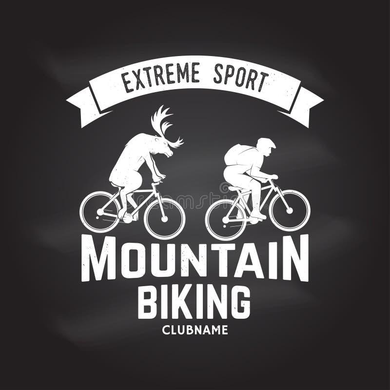 Clubname biking da montanha Ilustração do vetor ilustração royalty free