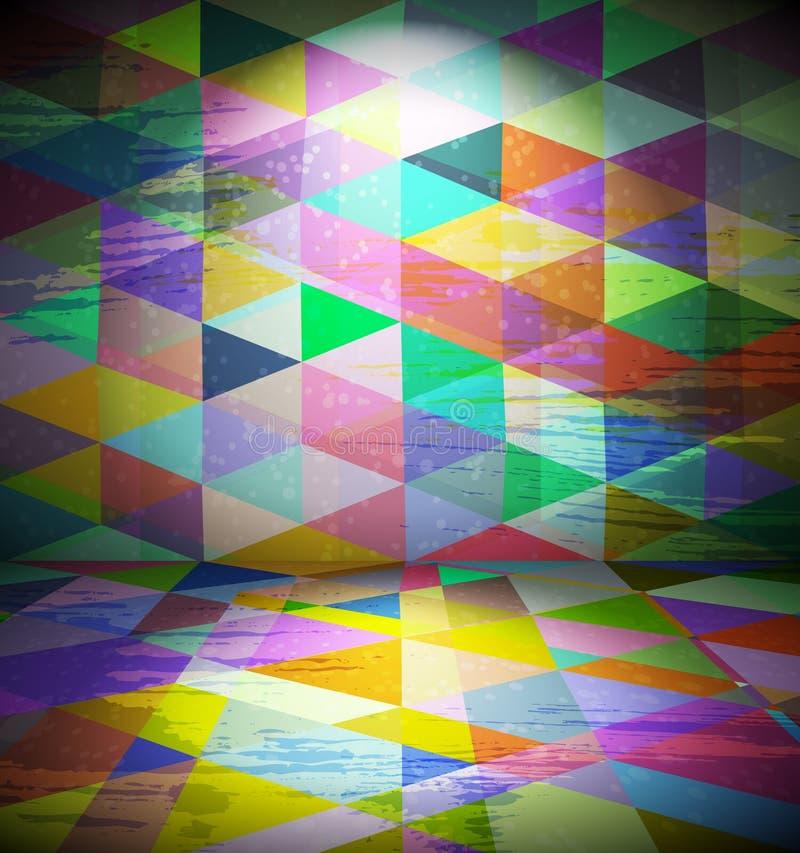 Clubraum mit triangled Tapete vektor abbildung