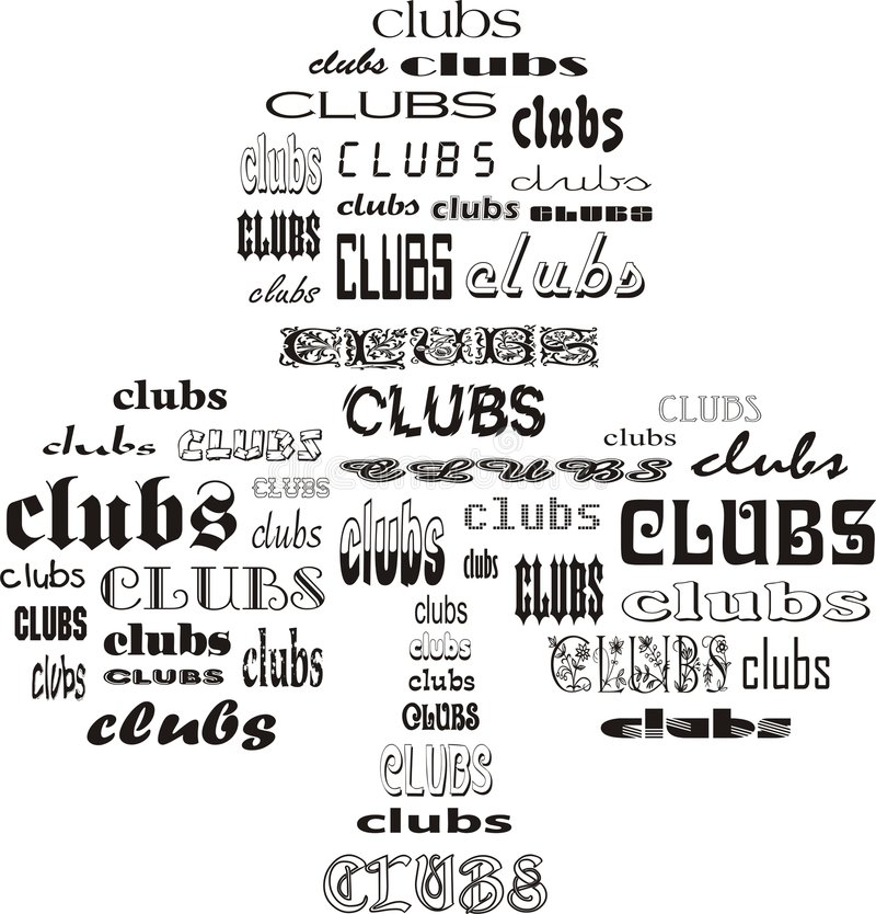 Download Clubs of Clubs stock vector. Image of word, deal, game - 5385261