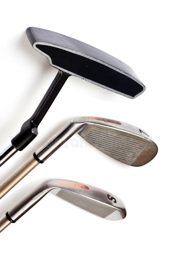 Clubs de golf imágenes de archivo libres de regalías