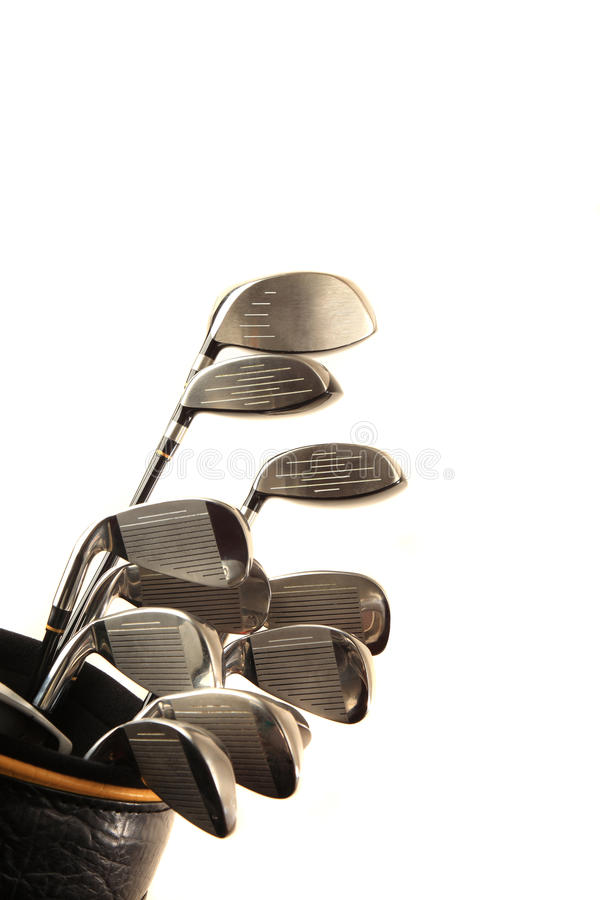Clubs de golf imagen de archivo libre de regalías