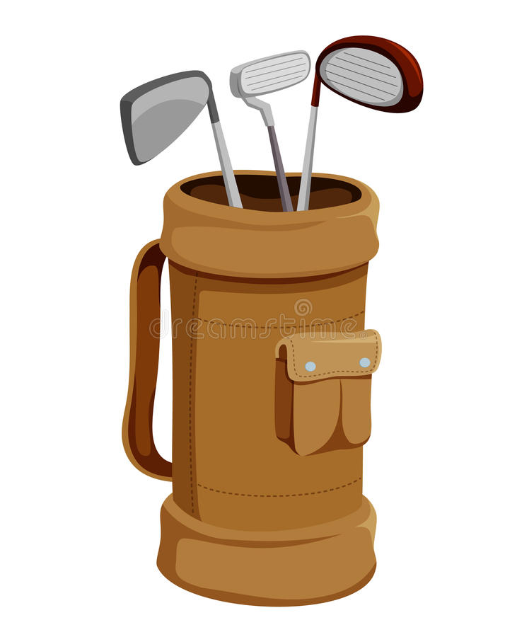 Clubs de golf   illustration stock