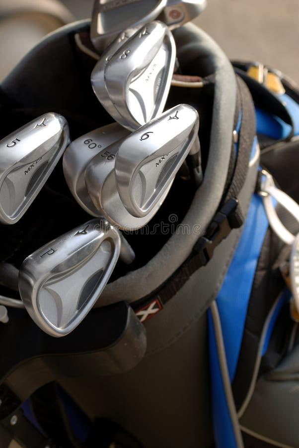 Clubs de golf imagen de archivo