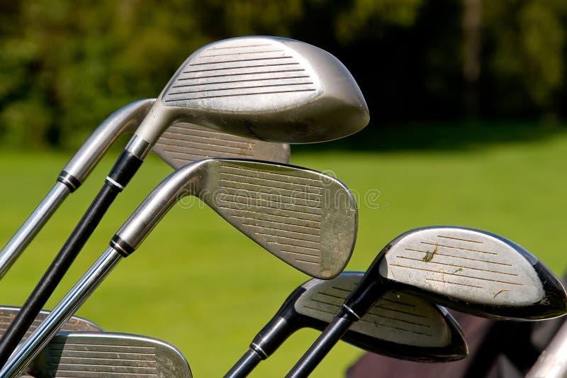 Clubs de golf photo libre de droits