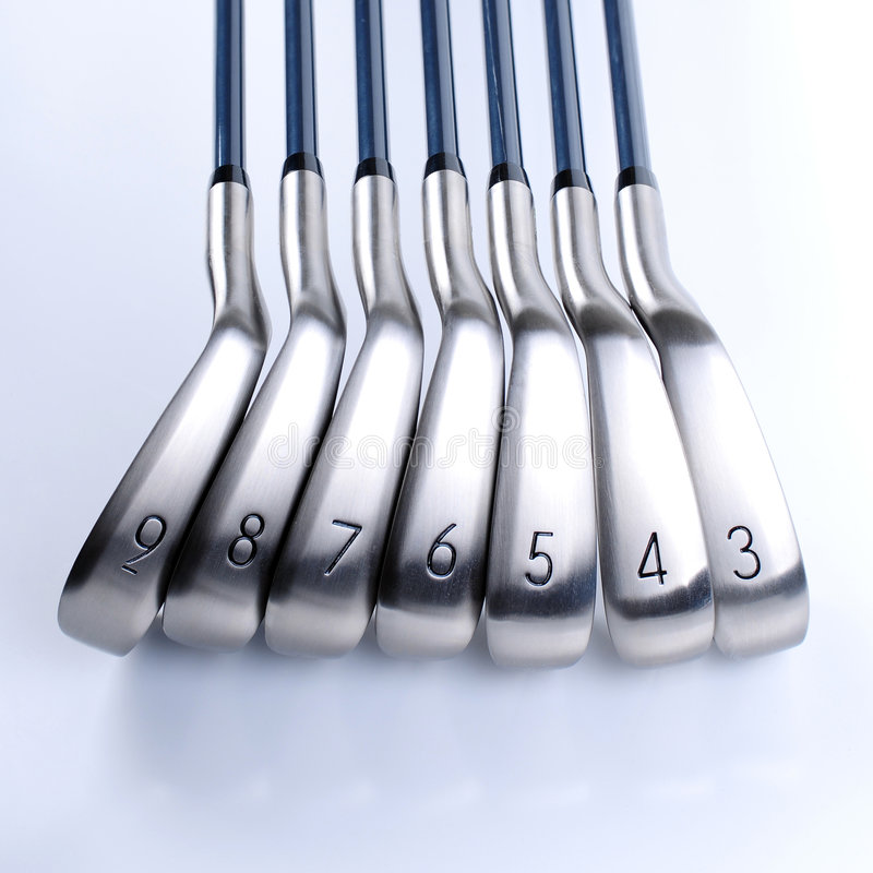 Clubs de golf fotos de archivo libres de regalías