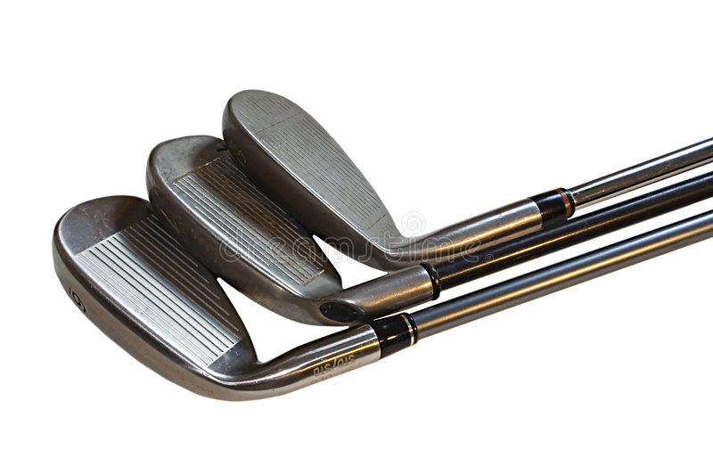 Clubs de golf image stock