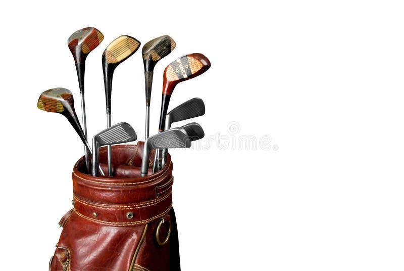 Clubs de golf de cru photo libre de droits