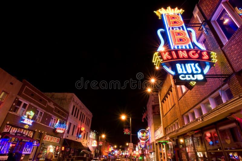 Clubs de los azules de Memphis imagen de archivo libre de regalías