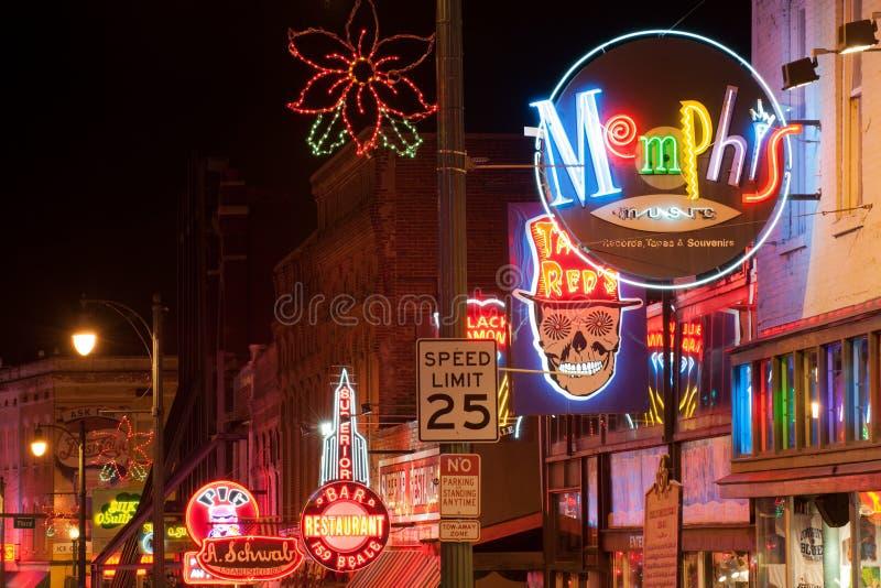 Clubs de rue de Beale photographie stock libre de droits