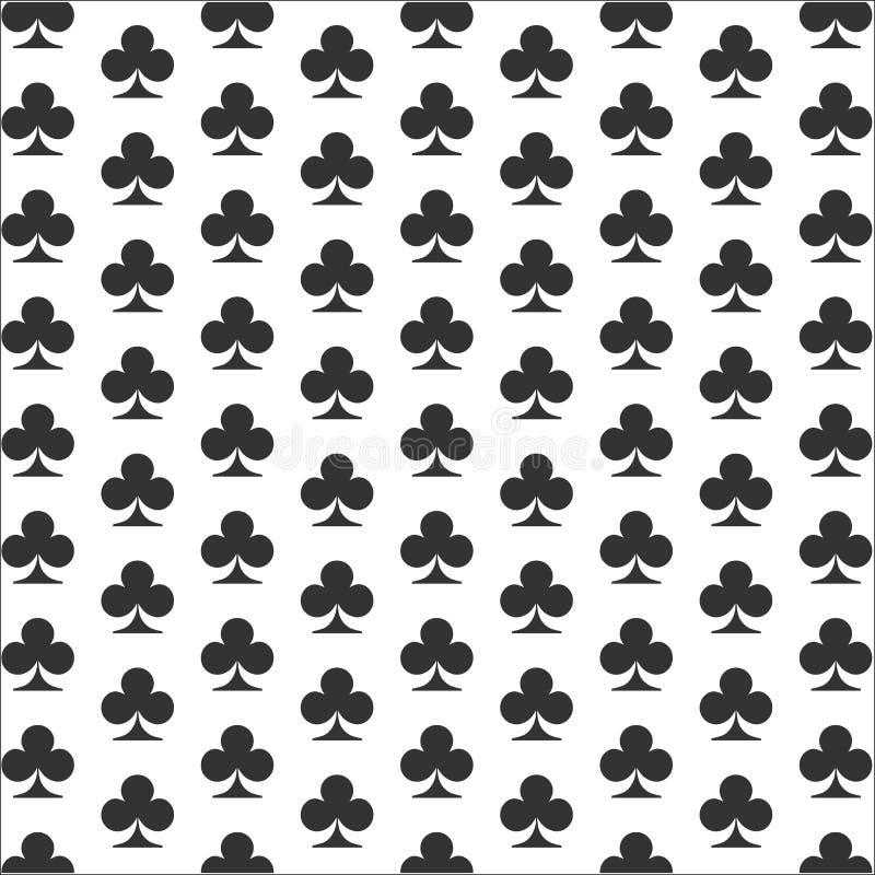 Clubsachtergrond Het pictogram van het kaartkostuum stock illustratie