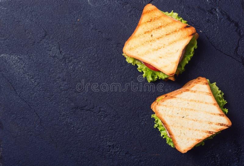 Clubsandwiches appena fatti fotografia stock