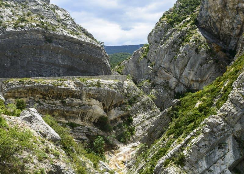 Clue de Taulanne, barranco en Francia imagen de archivo libre de regalías