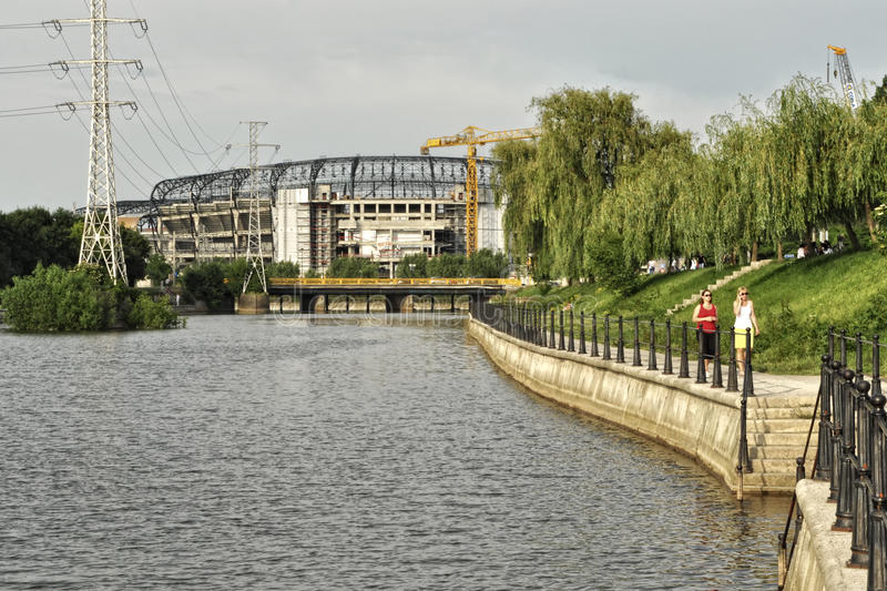 Download Cluj arena somes editorial stock image. Image of walk - 23657589