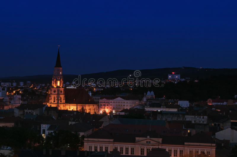Download Cluj Cityscape At The Blue Hour Stock Photo - Image: 31650646