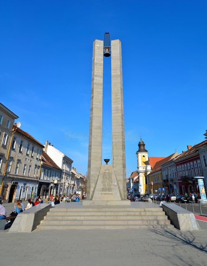 Cluj Memorandum Monument. CLUJ NAPOCA, ROMANIA - 03.04.2017: heroes boulevard Memorandum Monument landmark architecture royalty free stock photo
