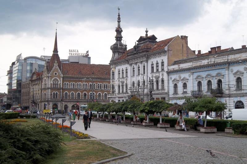 Cluj Napoca, квадрат стоковые фотографии rf
