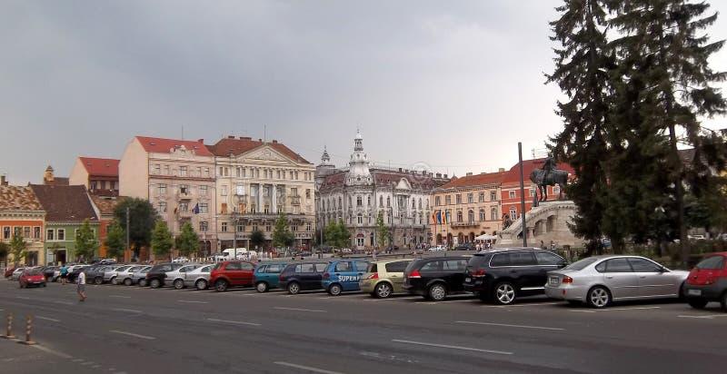 Cluj Napoca, groot vierkant stock fotografie