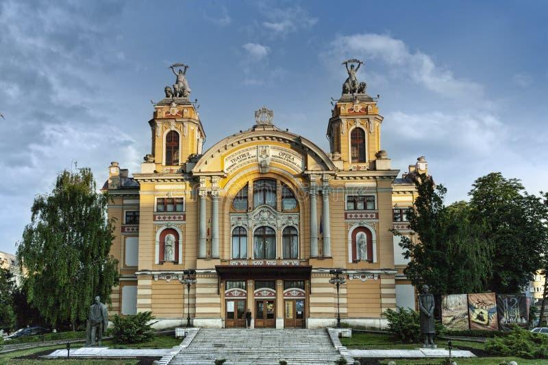 Cluj Napoca opera, Rumunia, Maj 2018 zdjęcie stock