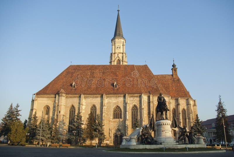 Cluj Napoca, place centrale images libres de droits