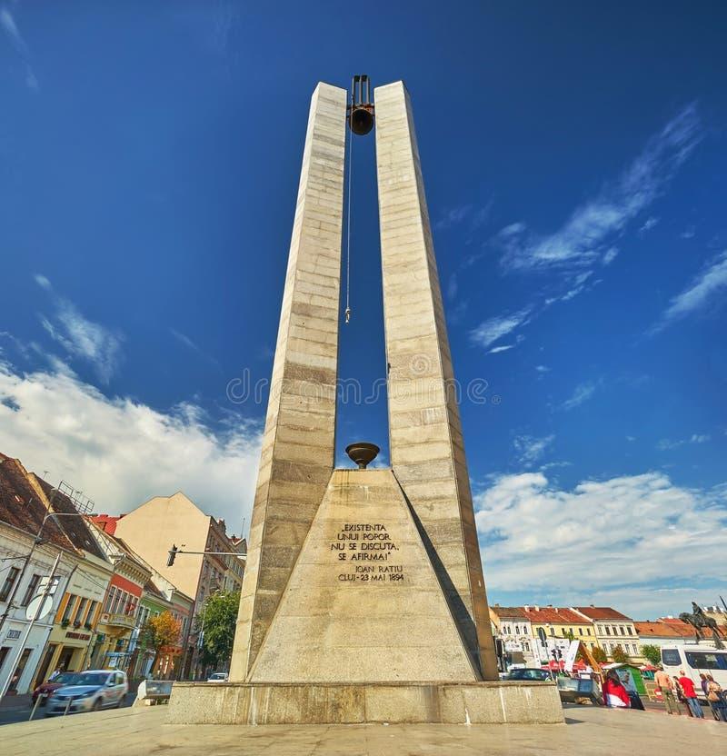 Cluj-Napoca. RO, Aug 2015: Memorandum Monument stock image
