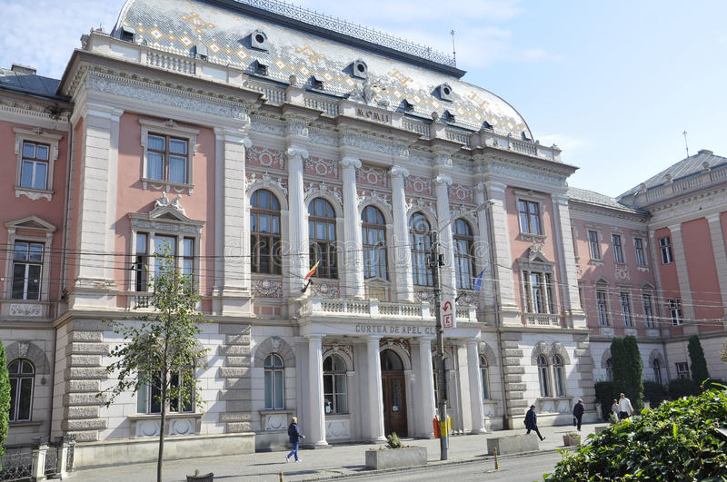 Cluj-Napoca RO, September 24th: Court of Justice building in Cluj-Napoca from Transylvania region in Romania royalty free stock photography
