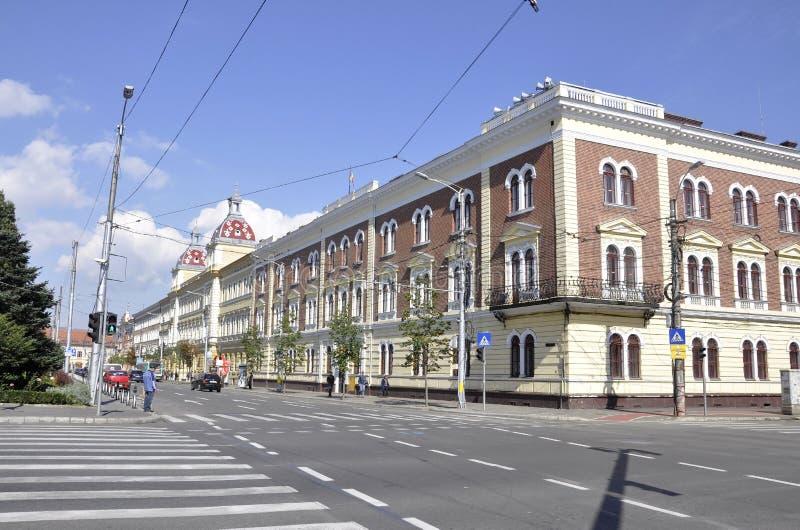 Cluj-Napoca RO, September 24th: Finance Palace Building in Cluj-Napoca from Transylvania region in Romania stock image