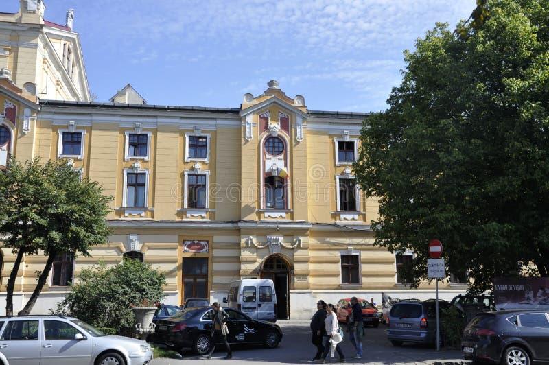 Cluj-Napoca RO, September 24th: National Theatre Lucian Blaga in Cluj-Napoca from Transylvania region in Romania stock photo