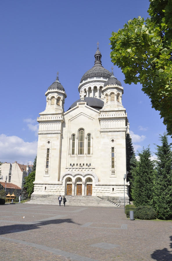 Cluj-Napoca RO, September 24th: Orthodox Metropolitan Cathedral in Cluj-Napoca from Transylvania region in Romania stock images