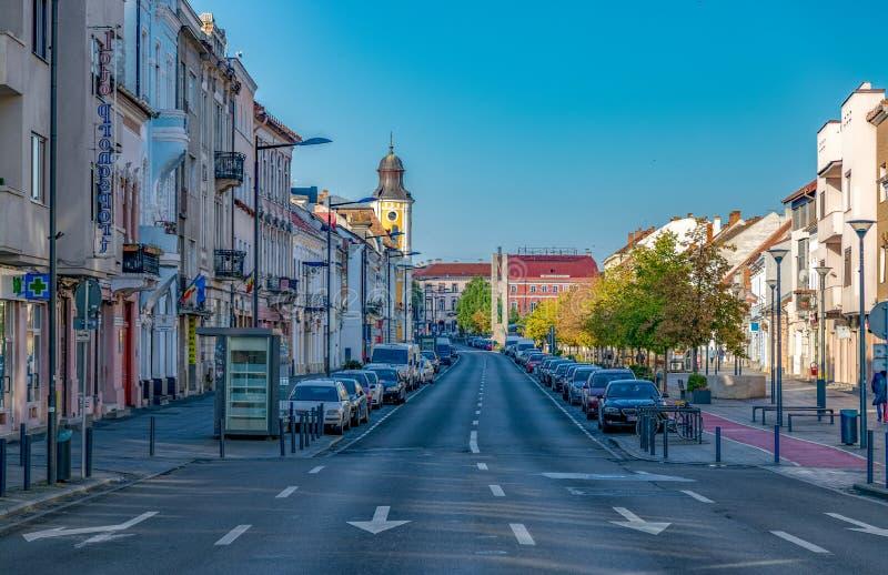 CLUJ-NAPOCA, ROMANIA - September 16, 2018: Eroilor Avenue, Heroes ` Avenue - a central avenue in Cluj-Napoca, Romania, connecting. The Avram Iancu and Unirii stock photos